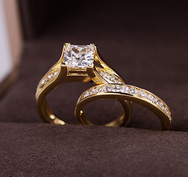 förlovningsring vigselring set