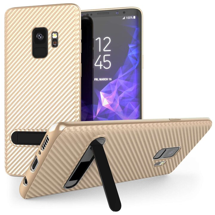 Mobilskal Samsung Galaxy S9 Gold med Stand - MissDiva 3ca9903b902f6
