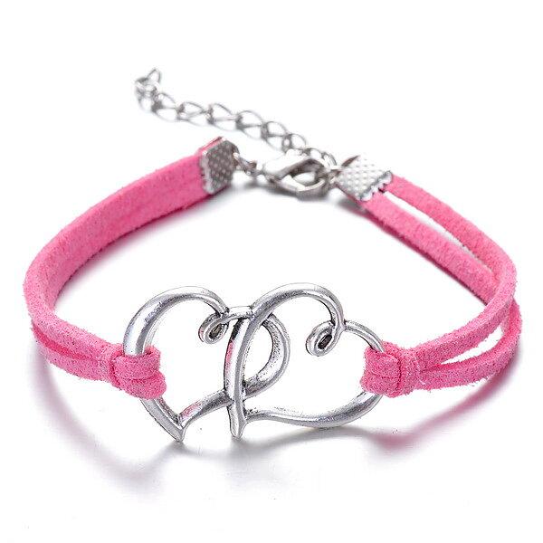 Armband Hjärtan Rosa - MissDiva 41b5fff86e82c