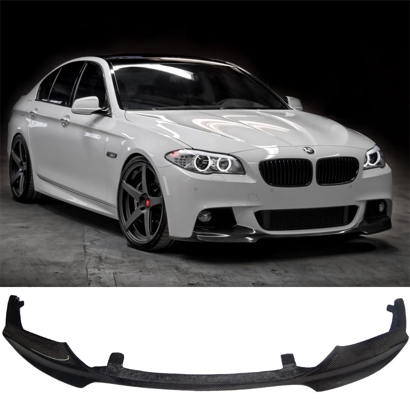 BMW F10 F11 M5 Carbon Fiber Front Lip V Style Car