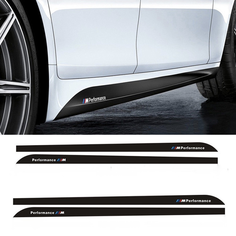 Bmw M Performance Side Skirt Decals Sticker Auto Accessories
