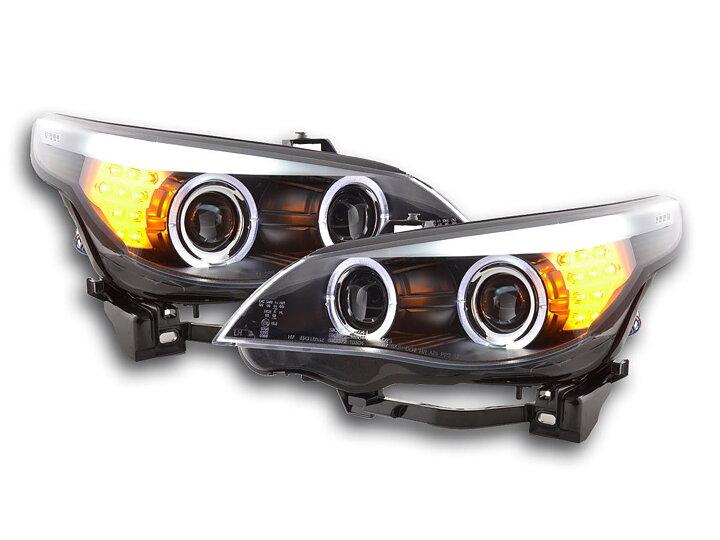 bmw 5 series e60 e61 angel eyes headlights auto accessories. Black Bedroom Furniture Sets. Home Design Ideas