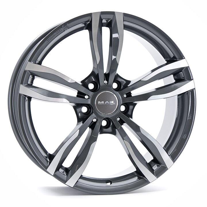 MAK Gun Metal Mirror wheels - Auto Accessories