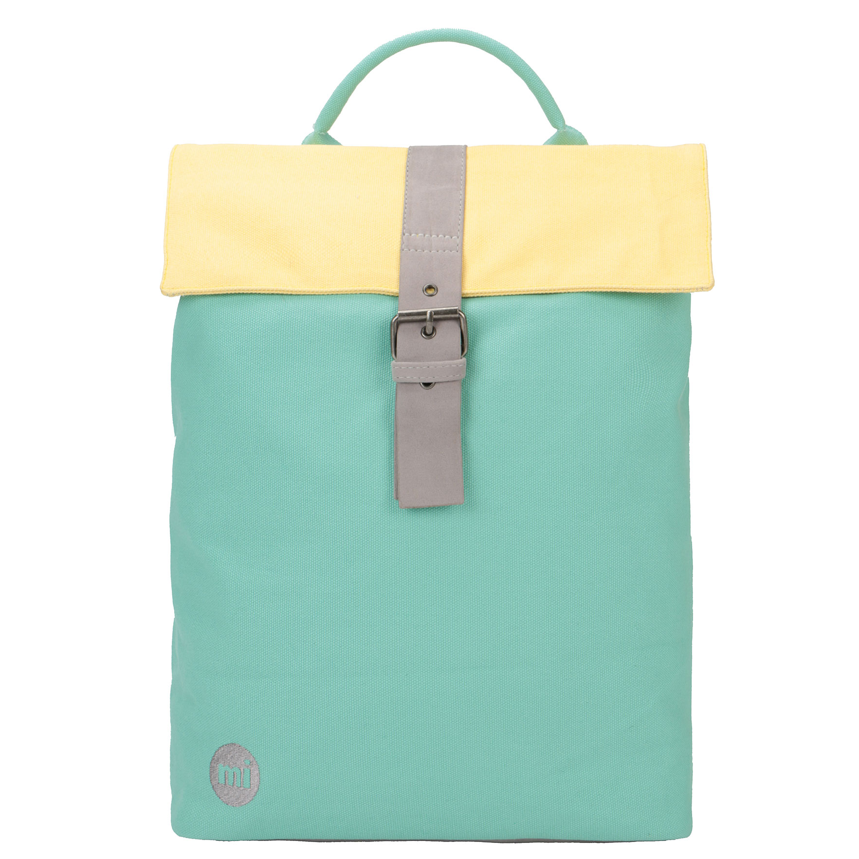 e3fad5b2556 Mi-Pac Day Pack Contrast Canvas Backpack Mint/Pastel Lemon - Standtall.se