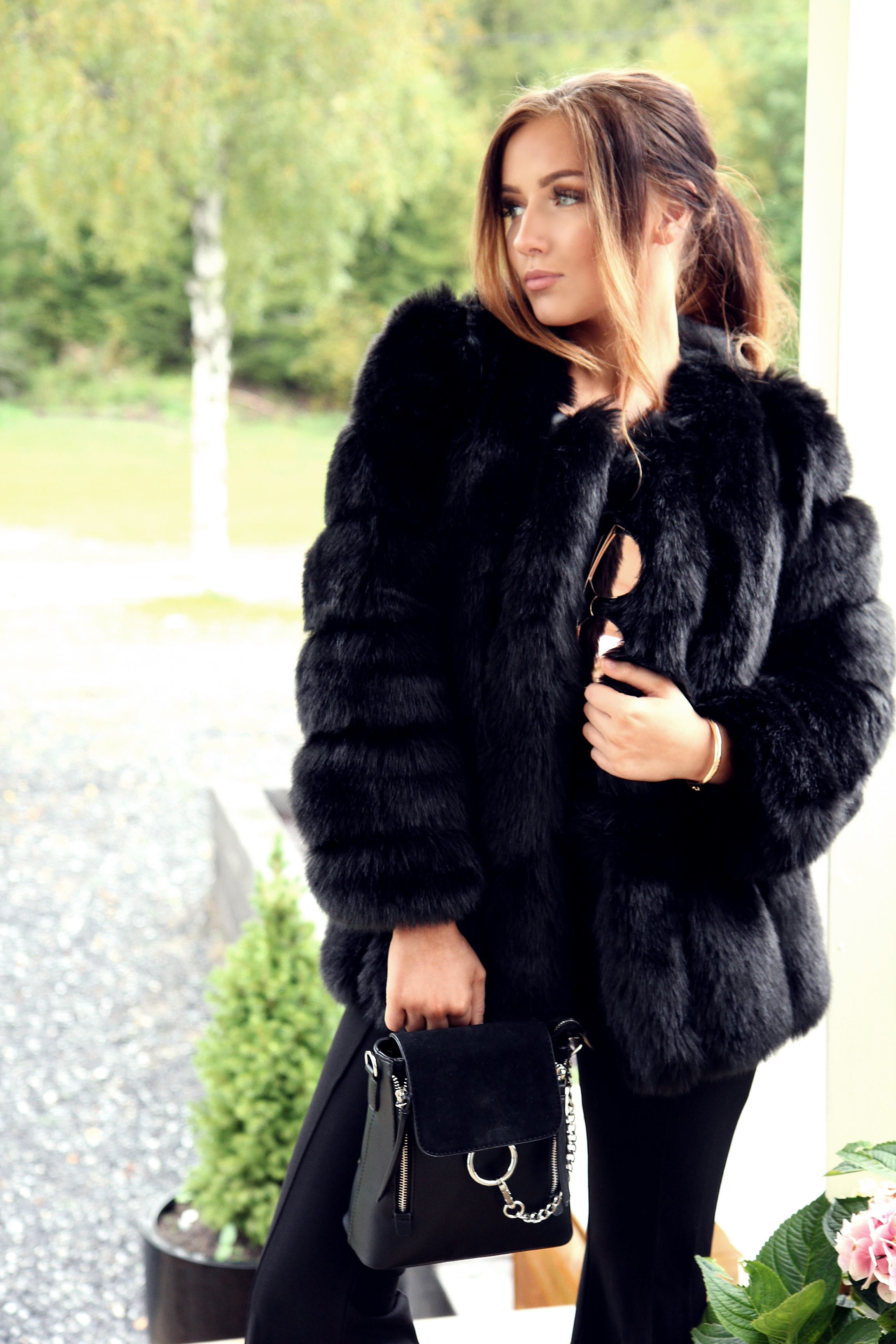 pälsjacka faux fur