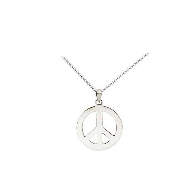 halsband peacemärke silver
