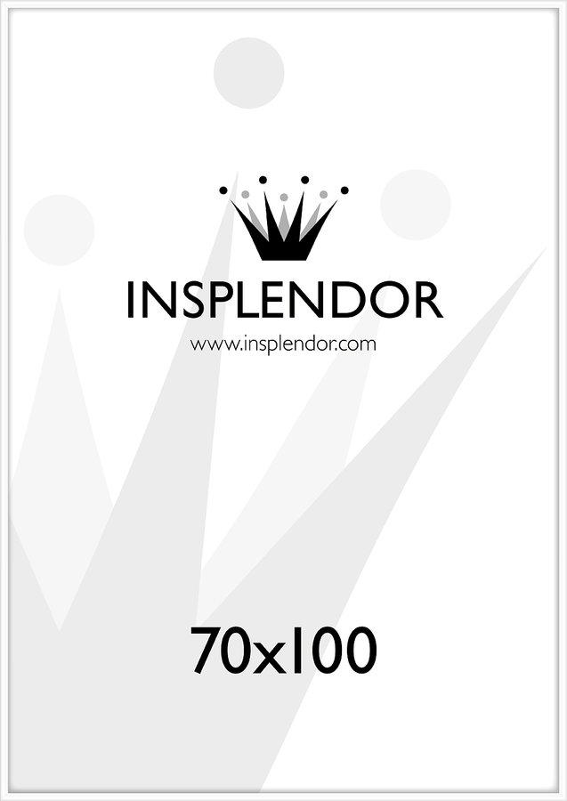 Buy frames online - White wood frame, 70x100 cm - Insplendor.com