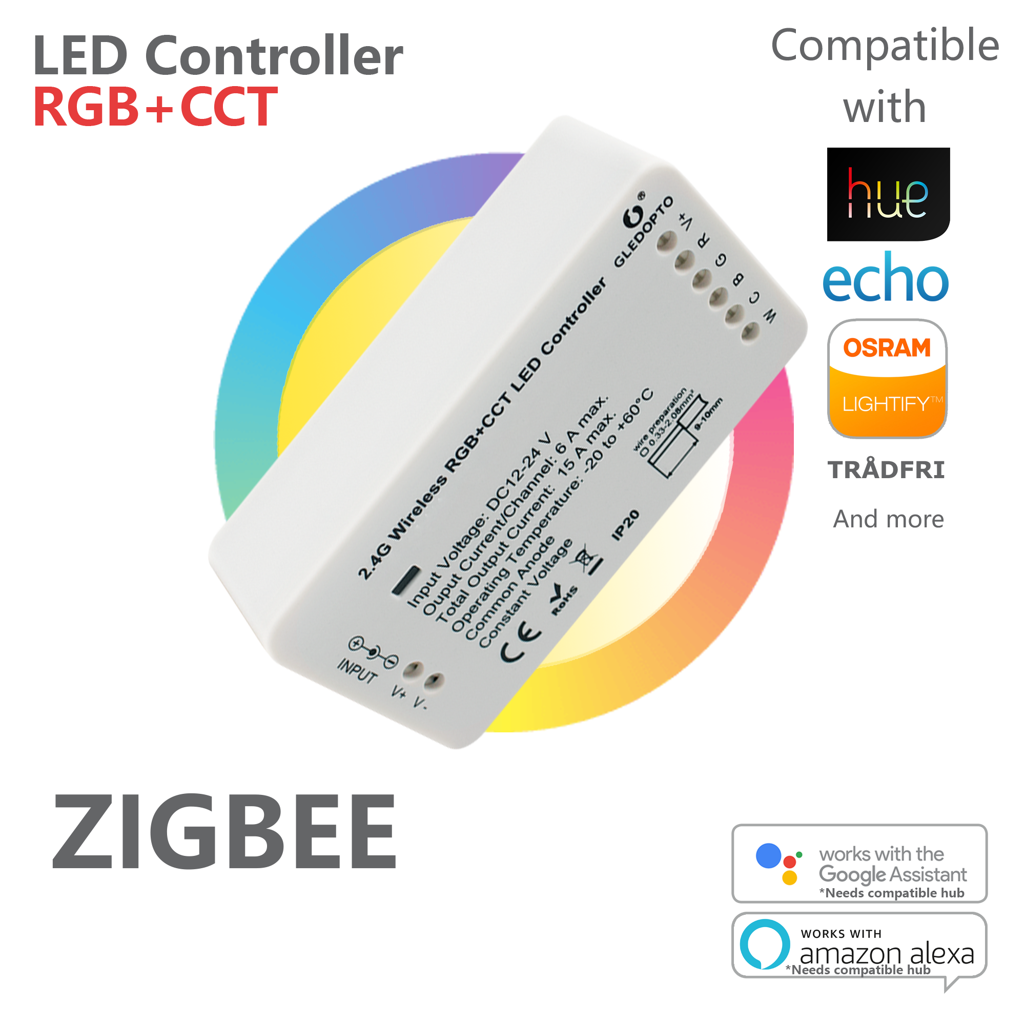 Gledopto Rgb Cct Led Controller For Strips With Pic12f675